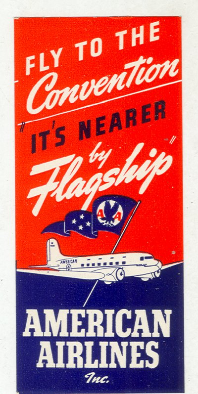 Air vintage travel label - americanairlines 4