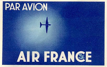 Air vintage travel label -irFrance11