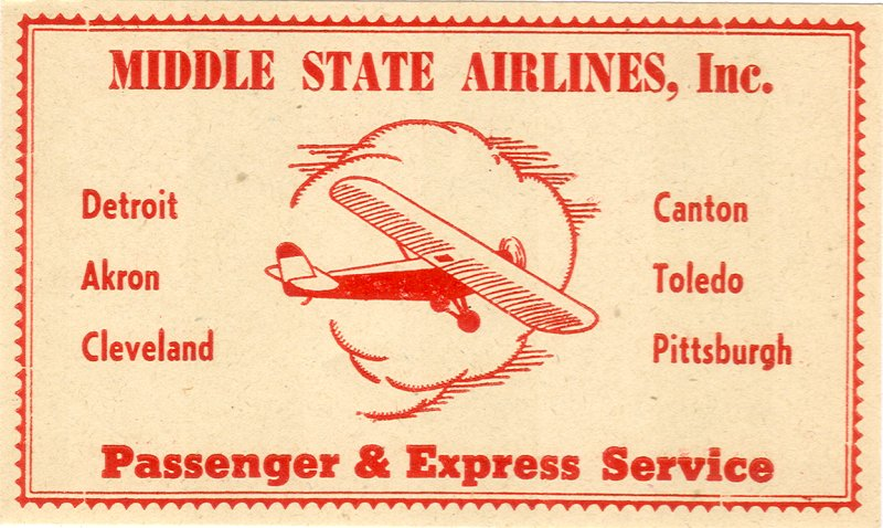 Air vintage travel label - middlestate