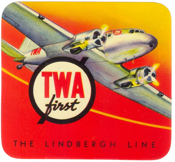 Air vintage travel label - twa
