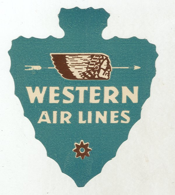 Air vintage travel label - westernairlines
