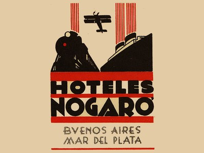 Argentina vintage luggage labels