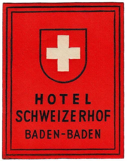 Germany - FKB - Baden Baden - Hotel Schweizerhof