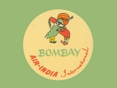 VINTAGE LUGGAGE LABELS FROM INDIA