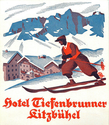 Mountains and Ski Vintage Travel Labels - VINTRALAB-001