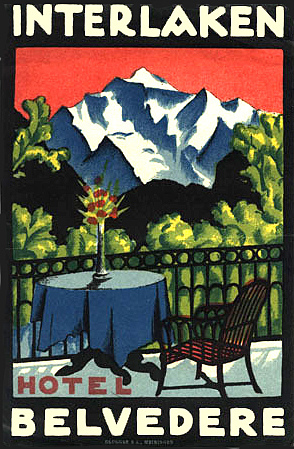 Mountains and Ski Vintage Travel Labels - VINTRALAB-029