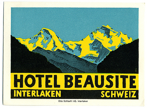 Mountains and Ski Vintage Travel Labels - VINTRALAB-054