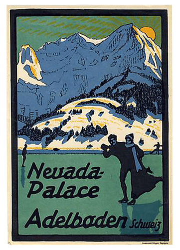 Mountains and Ski Vintage Travel Labels - VINTRALAB-074