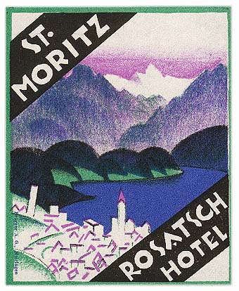 Mountains and Ski Vintage Travel Labels - VINTRALAB-076
