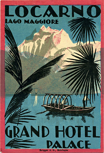 Mountains and Ski Vintage Travel Labels - VINTRALAB-091