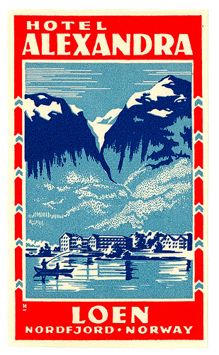 Mountains and Ski Vintage Travel Labels - VINTRALAB-101