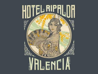 VINTAGE LUGGAGE LABELS FROM SPAIN