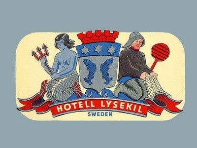 VINTAGE LUGGAGE LABELS FROM SWEDEN