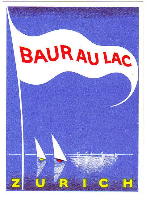 Switzerland - ZRH - Zurich - Baur au Lac grafica Charles Kuhn