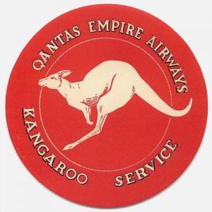 Australia vintage luggage label